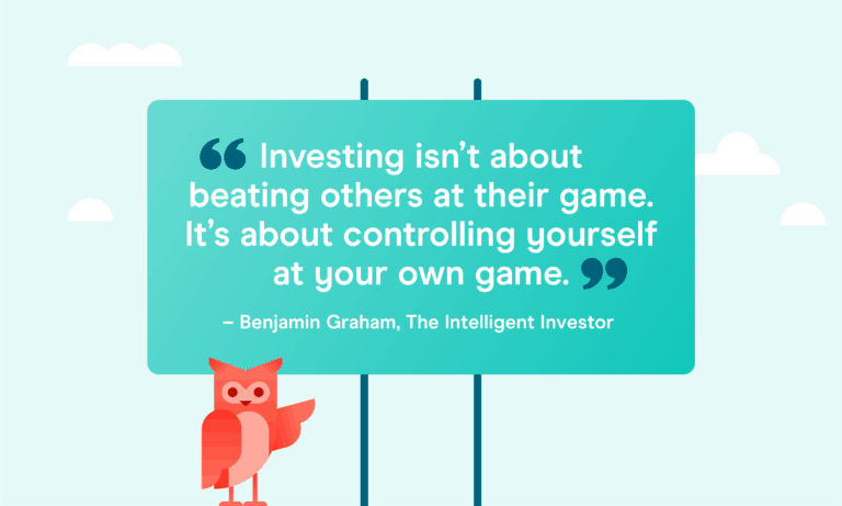Investing isn't about beating others at their game. It's about controlling yourself at your own game.