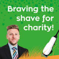 Braving the shave for charity
